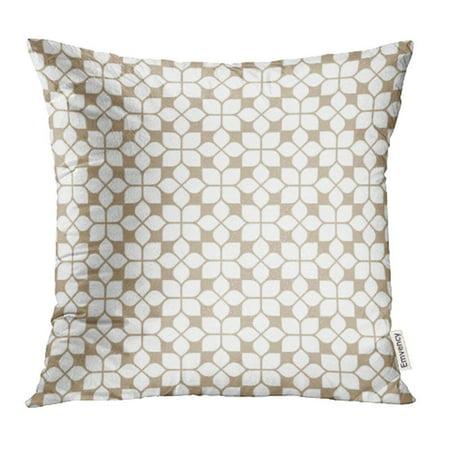 EREHome White Elegant Beige Flower Pattern in Oriental Style Lineal Classic Arabic Arab Pillowcase Cushion Cover 16x16 inch - image 1 de 1
