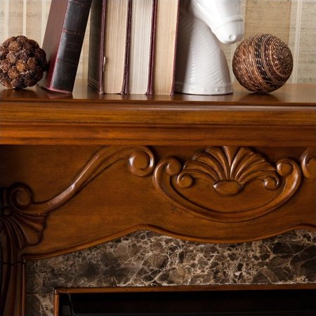 Southern Enterprises Cardona Electric Fireplace in Walnut - image 5 de 13