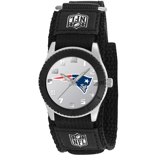 Game Time NFL Men's New England Patriots Rookie Series Watch, Black