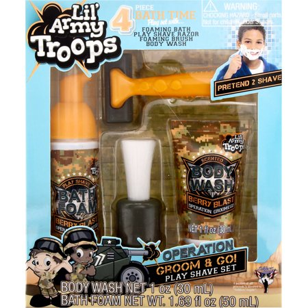 Lil Army Troops Army Kids Shave Kit, 4 pc - Walmart.com