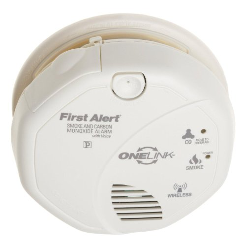 First Alert SCO500 BInterconnected Battery Operated Combination Smoke and Carbon Monoxide Alarm with Voice Location