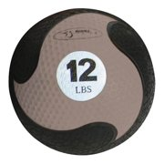 FitBALL Twelve-Pound Grey MedBall w Textured Surface