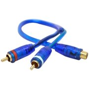 DB Link DBDCLY2MZB Double Shielded Competition Series CLY2MZ 2 Male To 1 Female RCA Y Adapter