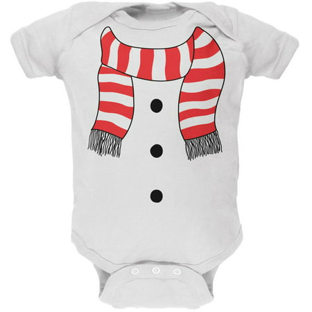 Halloween Snowman Suit Costume White Soft Baby One Piece for $<!---->