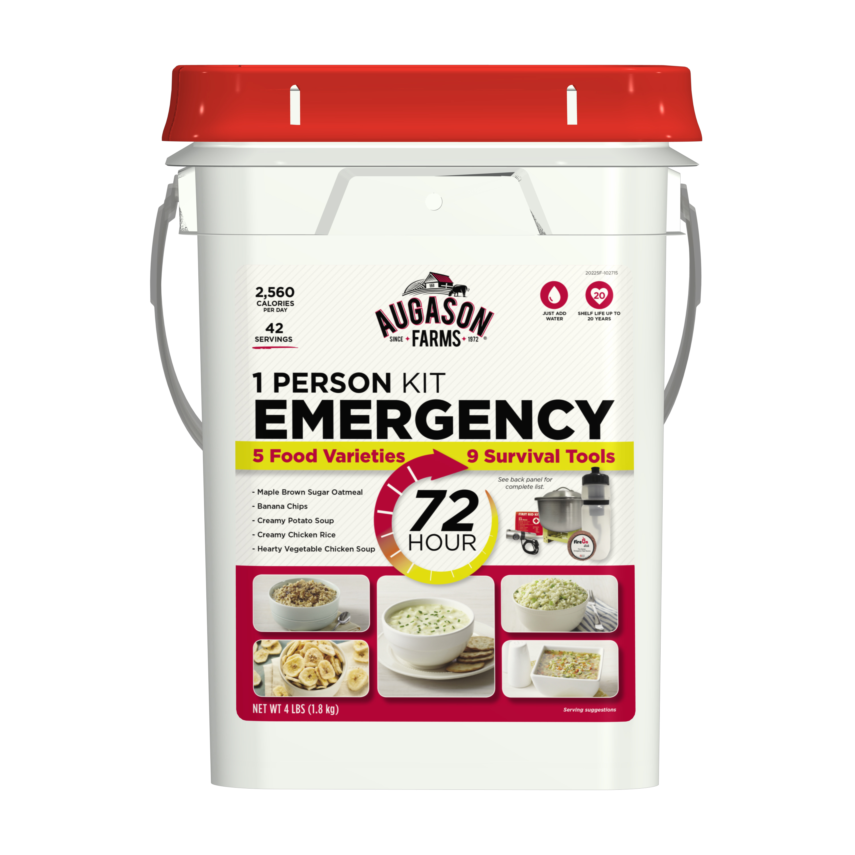 Augason Farms 72-Hour 1-Person Emergency Food Storage Kit with Survival Gear by Blue Chip Group