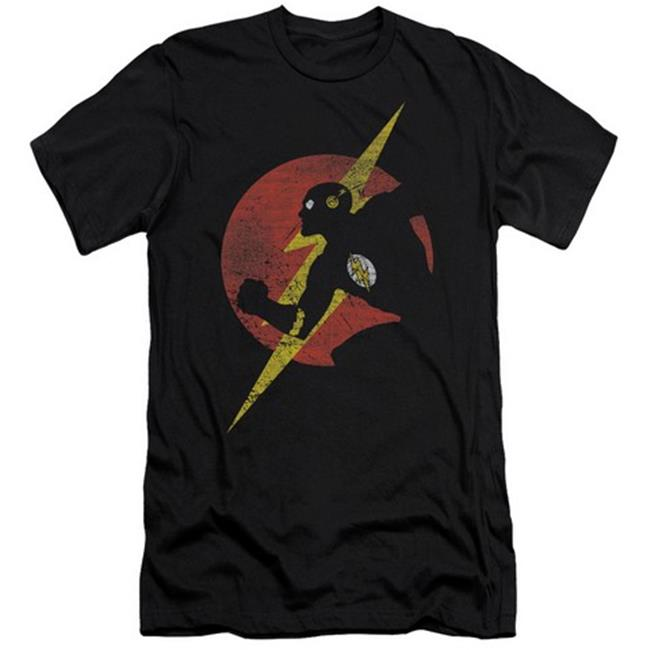 Jla-Flash Symbol Knockout Short Sleeve Adult 30-1 Tee, Black - 2X - image 1 de 1