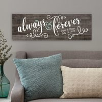 Personalized Always & Forever Canvas - 9x27