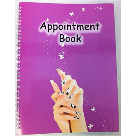 Beauticom 4 Column Nails Appointment Book for Salons, Spas, and other Business (100 Pages) 6 Column Appointment Book