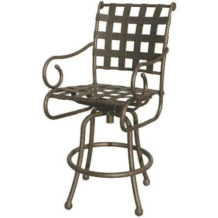 Miraculous Darlee Malibu Swivel Patio Bar Stool In Antique Bronze Set Of 2 Spiritservingveterans Wood Chair Design Ideas Spiritservingveteransorg