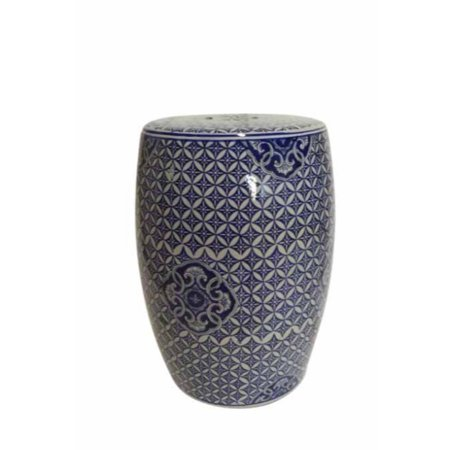 Image of Exquisite Ceramic Garden Stool, Blue And White