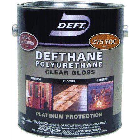 Deft dethane voc clear finish interior exterior polyurethane for Exterior polyurethane wood finish