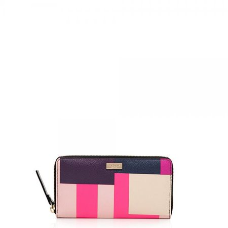 Kate Spade Grant Street Neda Continental Zip Wallet, Colorblock Party (Kate Spade Party)