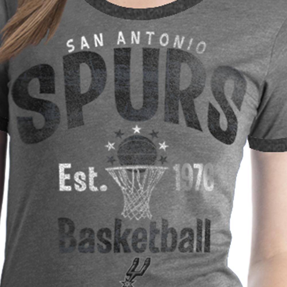 San Antonio Spurs Women's NBA Short Sleeve Biblend Crew Neck Tee