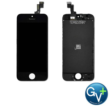 OEM Touch Screen Digitizer and LCD for Apple iPhone 5C - Black (A1456, A1507, A1526, A1529, A1532) ()