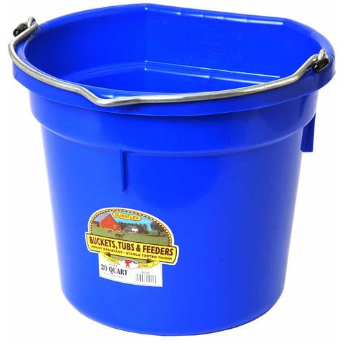 Miller Manufacturing 20qt Blue Flat Plastic Bucket