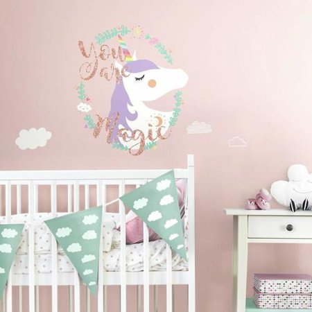 unicorn magic peel and stick giant wall decals. Black Bedroom Furniture Sets. Home Design Ideas