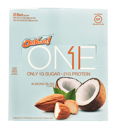 ISS Research OhYeah® ONE Protein Bar Almond Bliss -- 12 B...