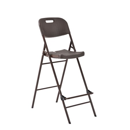 folding plastic utility bar chair 48 height 31 width 18 length brown. Black Bedroom Furniture Sets. Home Design Ideas
