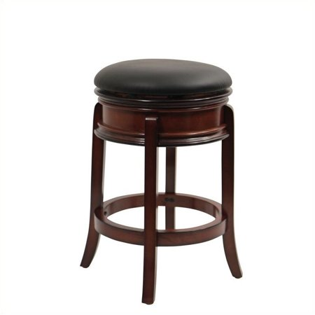 """Bowery Hill 24"""" Swivel Counter Stool in Brandy"""