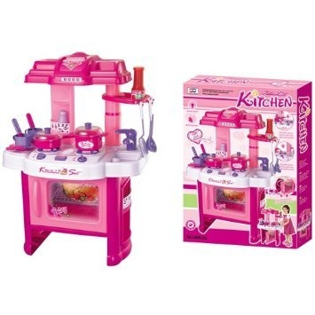 "PowerTRC® Deluxe Beauty Kitchen Appliance Cooking Play Set 24"" w/ Lights & Sound"