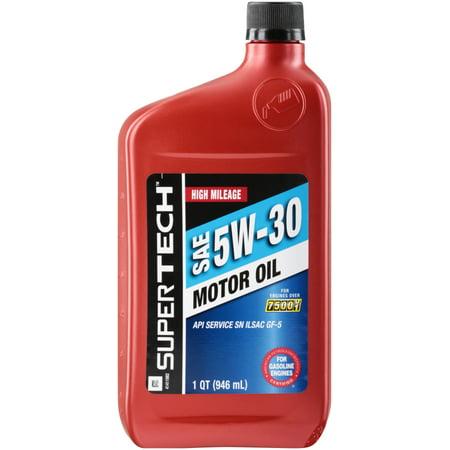 Super Tech High Mileage 5w30 Motor Oil 1 Qt Best Motor Oil