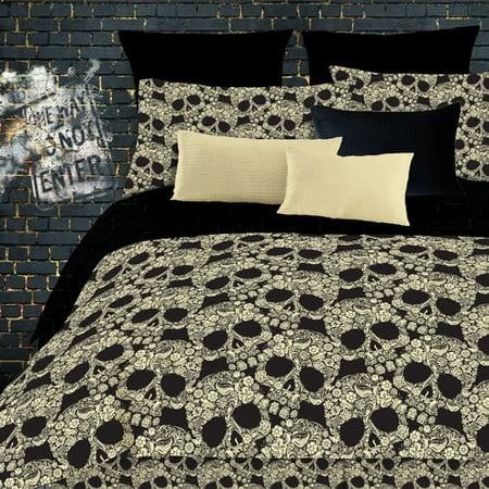 Veratex, Inc. Flower Skulls Comforter (Veratex Stripes Comforter)