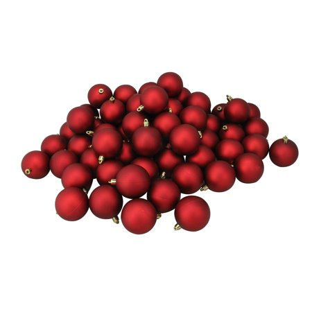 Red Christmas Ball Ornaments.60ct Red Hot Shatterproof Matte Christmas Ball Ornaments 2 5 60mm