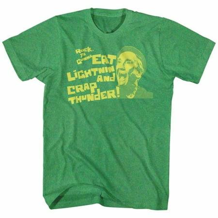 Rocky Movies Eat Lightning Adult Short Sleeve T Shirt - Lightning Simulator Halloween