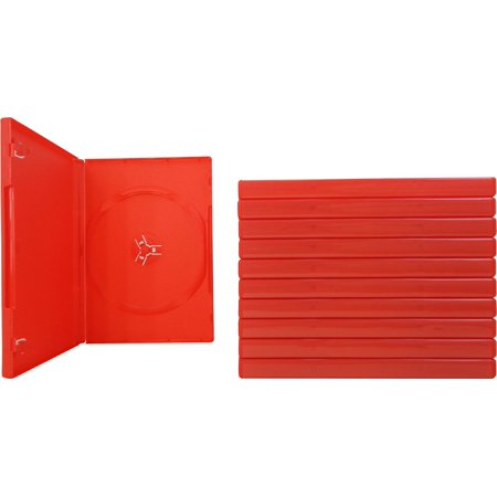 10 empty standard red replacement boxes cases for standard dvd
