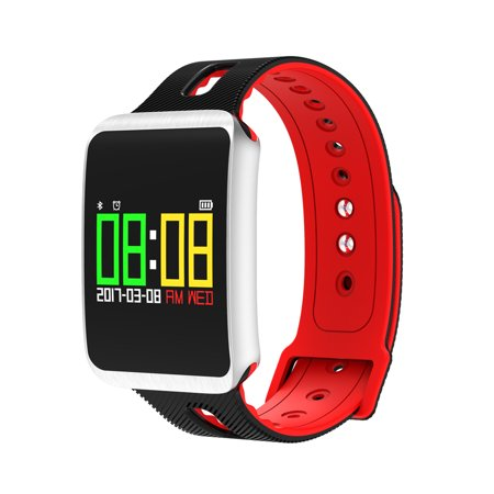 TF1 Bluetooth 4.0 Nordic 52832 Chip IP68 Waterproof Heart Rate / Blood Pressure / Blood Oxygen / Sleep Monitor Sedentary Reminder Smart Watch for iOS / Android Phones
