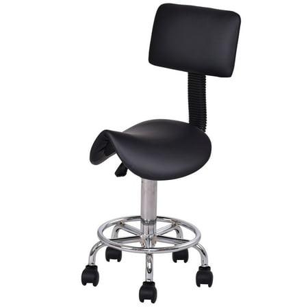 Tremendous Goplus Adjustable Saddle Salon Stool Rolling Massage Chair Short Links Chair Design For Home Short Linksinfo