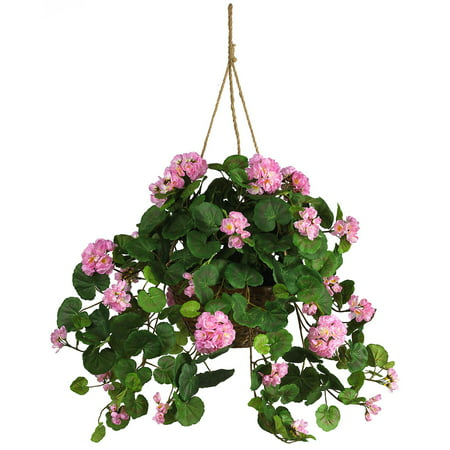 Nearly Natural Geranium Hanging Silk Plant
