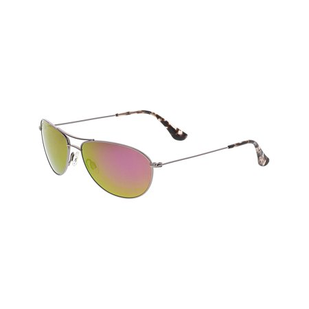 Maui Jim Women's Polarized Baby Beach P245-16R Rose-Gold Aviator - Toddler Aviators