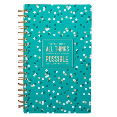 Journal Lux-Leather Flexcover Wirebound All Things Are Possible