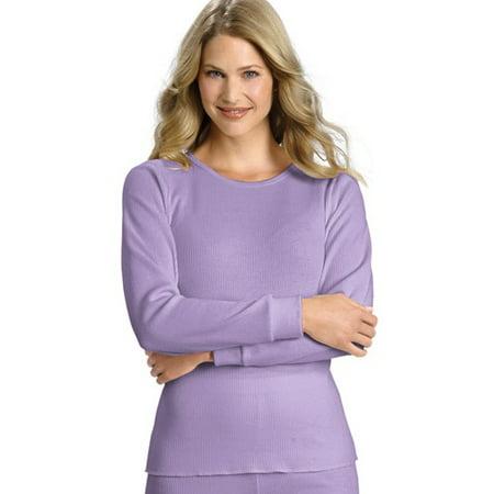 69a1fdca2 Hanes - Women s Plus-Size Thermal Underwear Crew Tee - Walmart.com