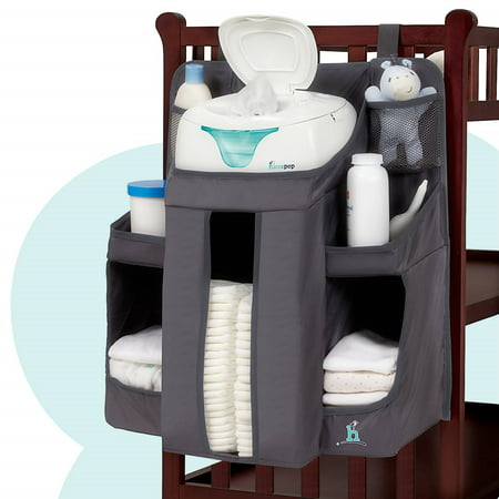 hiccapop Nursery Organizer and Baby Diaper Caddy | Hanging Diaper Organization Storage for Baby |