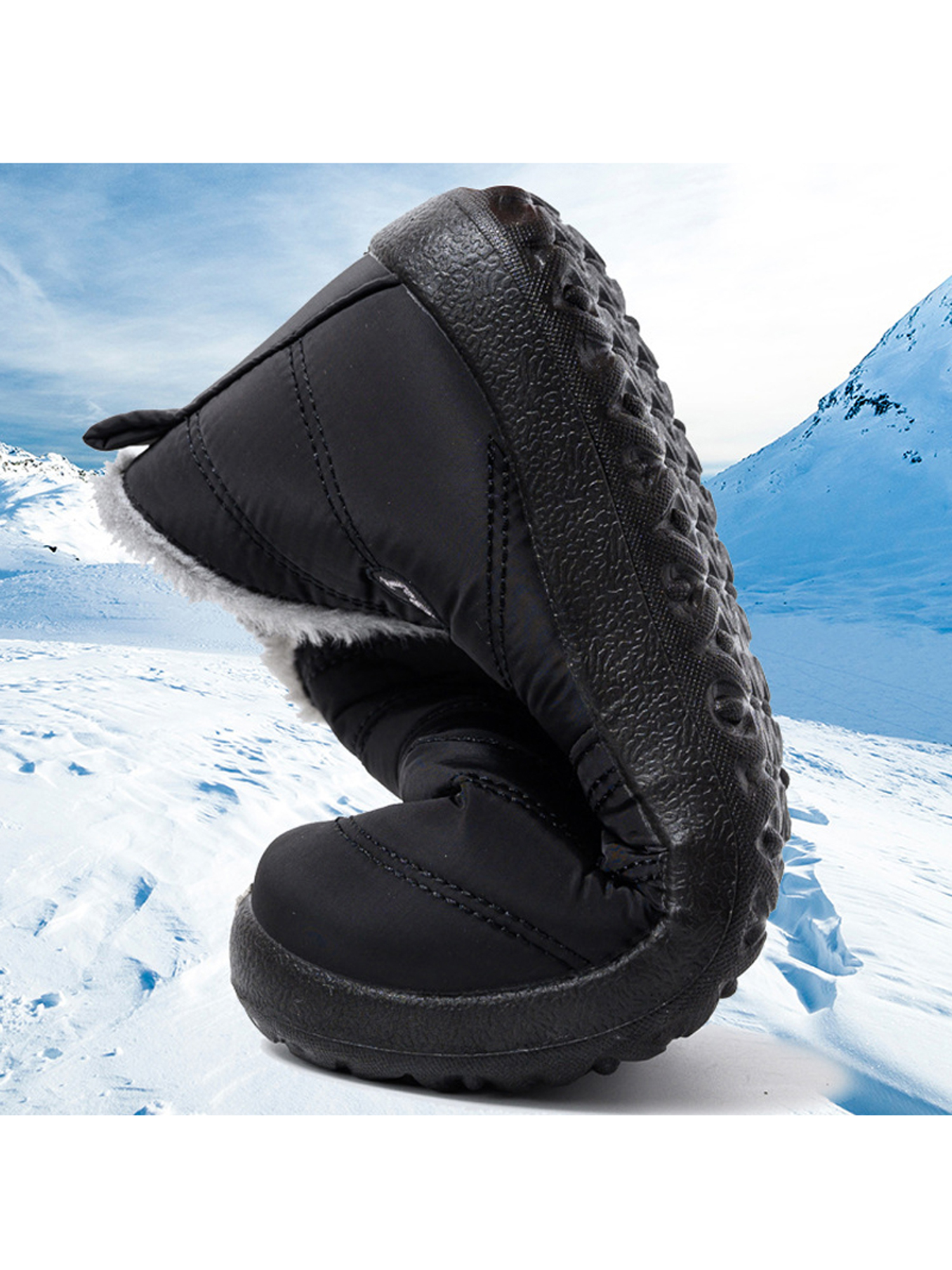 Details about  /Winter Long Snow Boots Women Over The Knee Boots Casual Flat with Wedges Boots