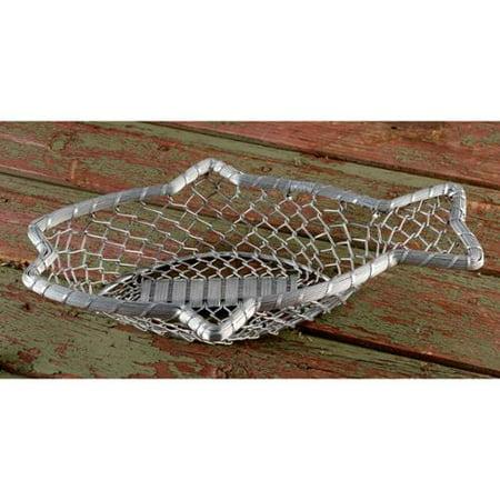 Kindwer 16 chain link metal fish basket for Fish basket walmart