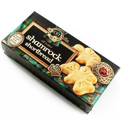 O'Neills Shamrock Shortbread Cookies by