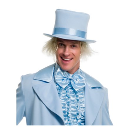 Deluxe Blue Dumb And Dumber Mad Hatter Gentlemens Top Hat Costume - Couples Dumb And Dumber Costumes