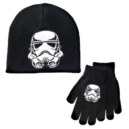 Star Wars Boys Storm Trooper Winter Beanie Hat & Gloves Set for $<!---->
