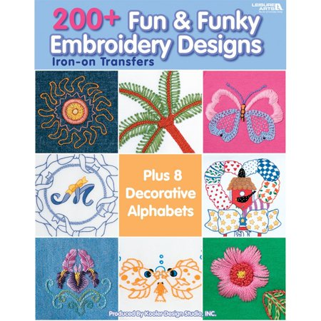 -200+ Fun & Funky Embroidery Designs, Dimensions: 11 in. h x 8.5 in. w x 0.25 in. d By LEISURE -