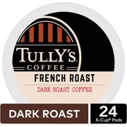 Tully's Coffee French Roast K-Cup Pods, Dark Roast, 96 Count for Keurig Brewers (4 Boxes of 24 K-Cups)