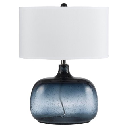 Cal Lighting BO-2263TB Christi Navy Blue Glass Table Lamp ()