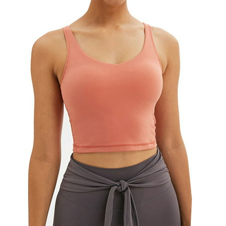 Sports Bra for Women Sport Vests,Longline Padded Bra Yoga Crop Tank Tops Fitness Workout Running Top Yoga Vests