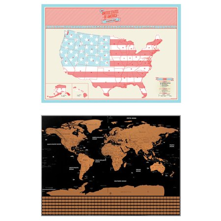 Unique World Travel Tracker Scratch Off World Map Poster Usa