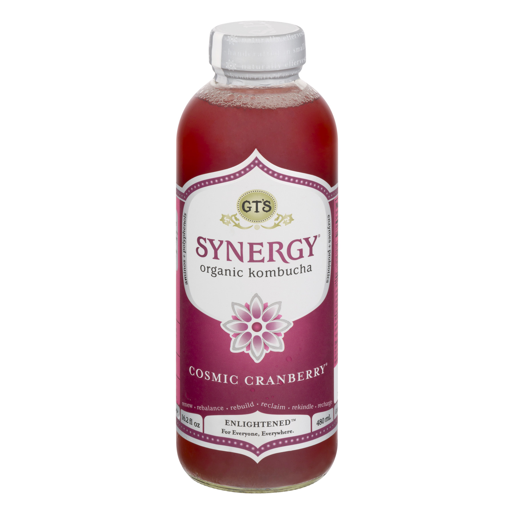 Gt's Synergy Organic Kombucha Cosmic Cranberry, 16.2 Fl Oz by Gt's