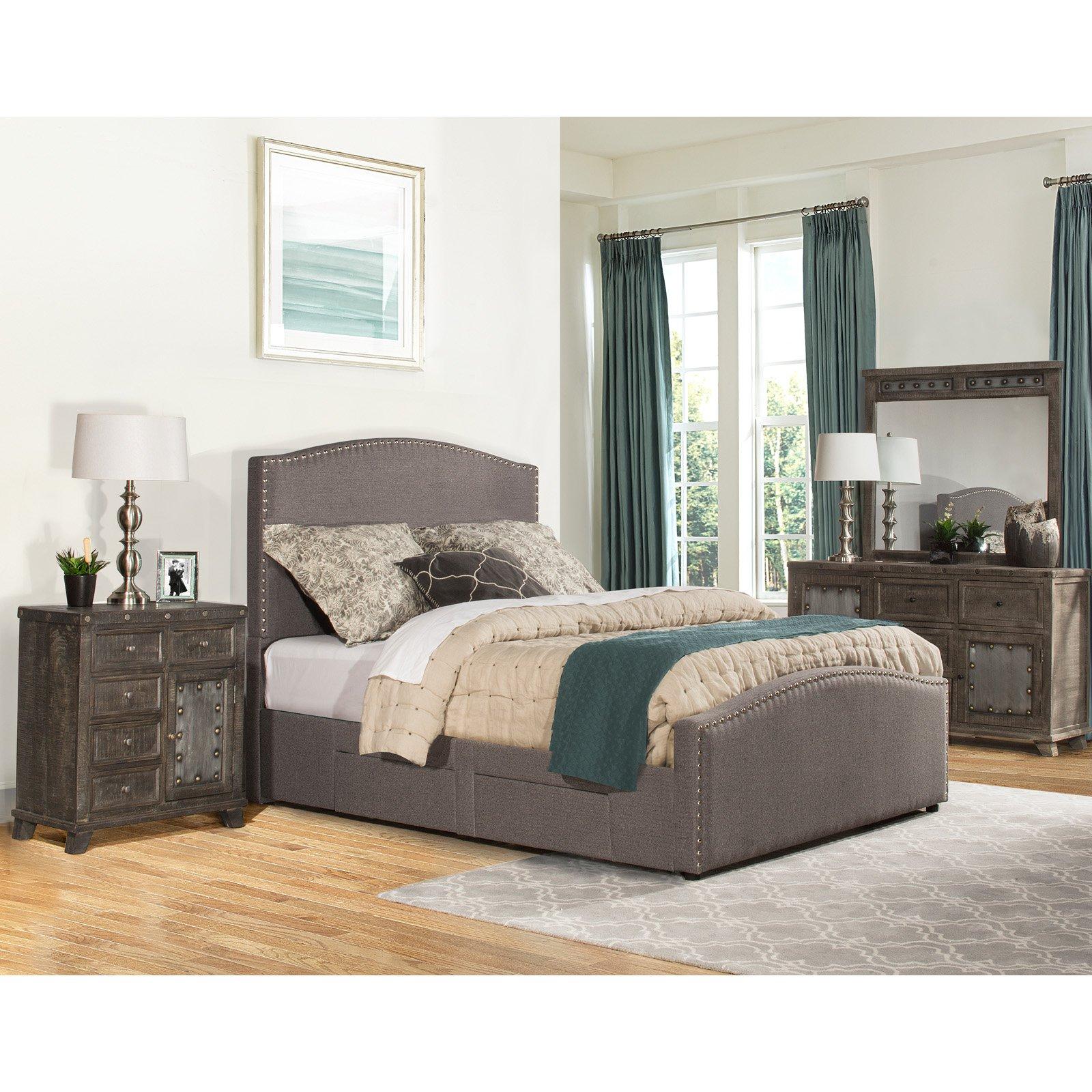 Hillsdale Kerstein Upholstered Storage Panel Bed