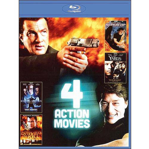 4-Film Action Pack, Vol. 4: Supercop / The Yards / Equilibrium / Driven To Kill (Blu-ray) (Widescreen)