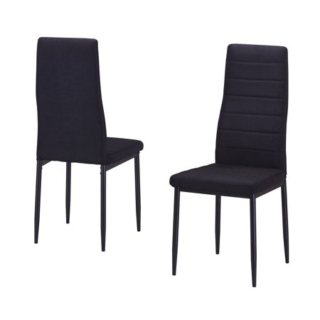 Best Quality Furniture Upholstered Side Chair Black or Gray (Set of 2, 4 or
